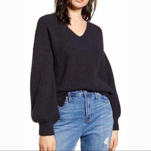 NEW Madewell XL Thornton Balloon Sleeve Sweater